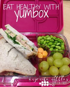 Pack a healthy lunch with Yumbox and stick to your New Year's Resolutions to eat better! Gluten Free Sandwiches, Eating Healthy, Lunch, Dishes, Resolutions, Recipes, Food, Eat Healthy, Healthy Food