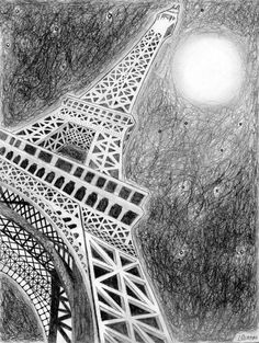 eiffel tower drawing and sketches (12)
