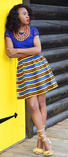 Colorful multi colored skirt paired with a fun fringe tie-up sandals and a lace dress (worn as a top). Visit for more how-to's on combining outfits. Summer fashion   Fashion blogger   Summer style   Summer outfit   Fringe tassel heels   Alaska   Summer looks   Summer hair