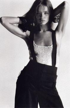 Natalia Vodianova in Undercover elements | Harper's Bazaar US May 2002 (photography: Mario Sorrenti, styling: Melanie Ward)