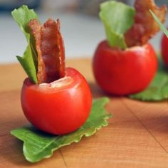 Everything tastes better in miniature, especially tiny BLT cups, made with homemade chipotle aioli.