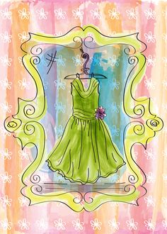 Party Dress Watercolor