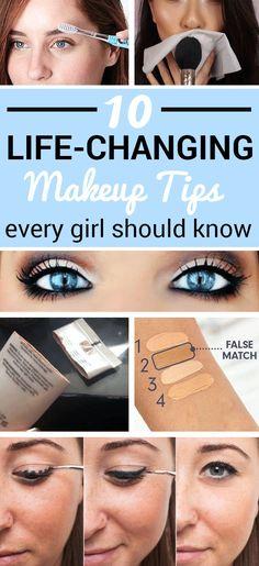 10 Life-Changing Makeup Tips Every Girl Should Know - - 10 Life-Changing Makeup Tips Every Girl Should Know Beauty Makeup Hacks Ideas Wedding Makeup Looks for W. All Things Beauty, Beauty Make Up, Beauty Care, Beauty Secrets, Beauty Hacks, Beauty Ideas, Makeup Tricks, Makeup 101, Makeup Tutorials