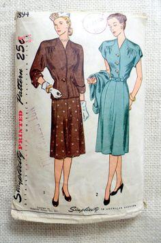 Vintage Pattern Simplicity 1894 1940s by momandpopcultureshop