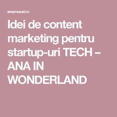Idei de content marketing pentru startup-uri TECH – ANA IN WONDERLAND