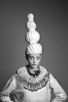 Amazing paper wigs by Paper-Cut-Project and photographs by Greg Lotus at Jackson Fine Art in Atlanta