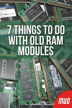 electronics projects 7 Things to Do With Old RAM Modules --- So what can you do with your old RAM modules Can they be reused Or recycled Should they be thrown in the bin Or can you find a new purpose for old PC memory Electronics Projects, Computer Projects, Electronics Basics, Electronic Circuit Projects, Electronics Components, Electronic Engineering, Arduino Projects, Electronics Gadgets, Hobby Electronics