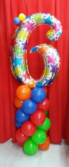 Balloon numbers on pinterest columns