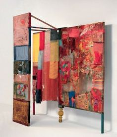 Robert Rauschenberg - Minutiae, 1954   Freestanding combine Oil, paper, fabric, newspaper, wood, metal, plastic with mirror, on wooden structure, 214.6 x 205.7 x 77.4 cm