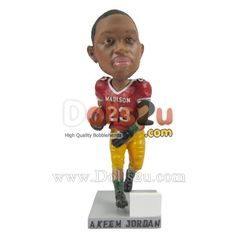 Custom Bobbleheads Football Male - $79.90 Dolls2u - Custom Bobbleheads Sculpted From Your Photos