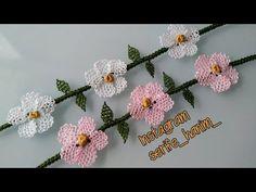 İğne oyası bileklik yapımı 👀👍👍👍/ bracelet making - YouTube Baby Hat Patterns, Bobble Stitch, Flower Hats, Needle Lace, Crochet Gifts, Crochet Flowers, Bracelet Making, Crochet Stitches, Crochet Projects