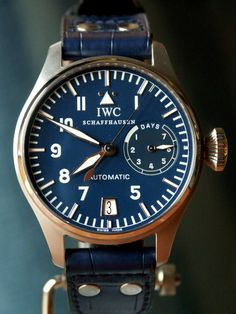 IWC first of my favorite watches :) Iwc Watches, Cool Watches, Watches For Men, Latest Watches, Dream Watches, Casual Watches, Der Gentleman, Bracelet Cuir, Beautiful Watches