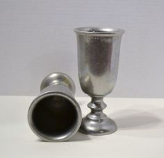 Two Vintage Pewter Goblets or Chalices by PanchosPorch on Etsy, $22.50