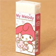 cute My Melody eraser with rabbit kawaii Japan 1