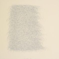 """Wes Mills, No Title (44), 2011, graphite and white powder pigment on paper, 17"""" x 17"""""""