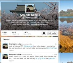 Follow me on Twitter - @Amanda Kendle Consulting
