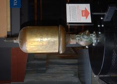 ...the steam whistle on display at a maritime museum in Great Britain...
