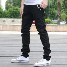 Buy 'Cool 6 – Contrast-Trim Buttoned Pants' with Free International Shipping at YesStyle.com. Browse and shop for thousands of Asian fashion items from China and more!