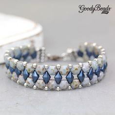 GoodyBeads | Blog: Two Hole Beads - Honeycomb Jewel Bracelet with FREE Tutorial