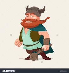 Cartoon Funny Character, Viking, Vector Illustration - 364462511 : Shutterstock