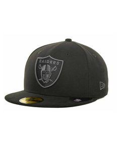 fa5addf05c5 New Era Oakland Raiders Black Gray 59FIFTY Cap Football Caps