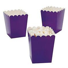24 Mini Purple Popcorn Boxes #3/3591