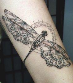 Foto Tatuaggio libellula