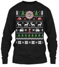 Firefighter Ugly Sweater Shirt | Teespring