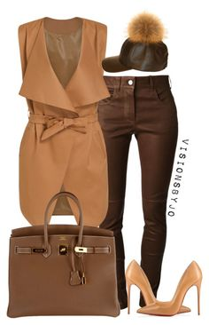 """""""Untitled #1458"""" by visionsbyjo on Polyvore featuring Givenchy, Hermès, Christian Louboutin, women's clothing, women's fashion, women, female, woman, misses and juniors"""