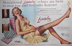 original vintage australian advertising 1956 Lincoln ad mid century pin up print