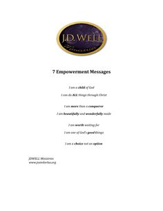 7 empowerment messages