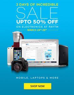Electronic Sale get upto 50% flat & upto 100000rs paytm cashback  Get details @ http://freeclues.com/deals/Electronic-Sale-get-upto-50-flat-upto-100000rs-paytm-cashback/1577
