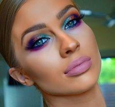 Beautiful Eye Makeup, Flawless Makeup, Pretty Makeup, Makeup Goals, Makeup Tips, Hair Makeup, Beauty Brushes, Unicorn Makeup, Evening Makeup