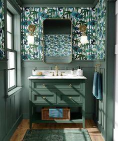 The Top 70 Bathroom Wallpaper Ideas - Interior Home and Design