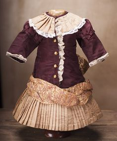 Antique Original Silk dress for Jumeau Bru Steiner Eden Bebe doll from respectfulbear on Ruby Lane