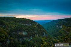 Cloudland Canyon Camping: Sunset from Cloudland's west rim