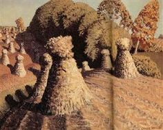 This painting called Iowa's corn field made in 1941 by Grant Wood shows local color because this is the way that he saw Iowa's corn fiend and how he portrayed it Jan Van Eyck, Grant Wood, Iowa, Paul Revere, Art Grants, Local Color, American Gothic, Art Database, Naive Art