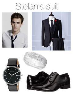 """Stefan ' s suit"" by ramona-monzerrath-ramirez on Polyvore featuring Skagen, Allurez, Calvin Klein, men's fashion and menswear"