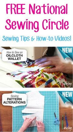 FREE National Sewing Circle Sewing Tips and How-to Videos!