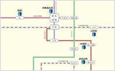 馬渕教室中学受験コース 教室所在地Map 京都