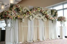 backdrop idea...Flowers of Charlotte loves this!   Find us at www.charlotteweddingflorist.com