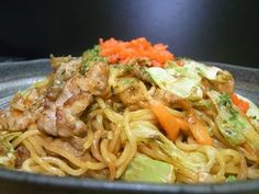 Yakisoba (Japanese style Chow Mein) - This is a YouTube video on how to make Yakisoba. So easy, and absolutely delicious! The ingredients are very common, I used Ramen Noodles that I bought at the Asian grocery, and they were perfect for this recipe. I shaved a boneless fast fry pork chop for my meat choice, but beef, chicken, or any seafood would work well in this recipe. I'm not kidding, this is delicious! I made it for my  lunch and again for supper tonight Ha! Sincerely Spectacular, YUM