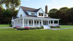 Country House Plans with Wrap Around Porches . Country House Plans with Wrap Around Porches . Plan Mk Modern Farmhouse Plan with Wraparound Porch Garage House Plans, Ranch House Plans, New House Plans, Car Garage, Build House, Southern House Plans, Country Style House Plans, Southern Homes, Modern Farmhouse Plans