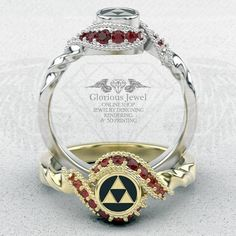 Glorious legend of Zelda inspired ring with Natural Ruby