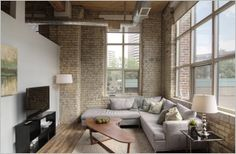 #Tannery #Loft #Toronto Toronto Lofts, Divider, Couch, Room, Furniture, Home Decor, Bedroom, Decoration Home, Room Decor