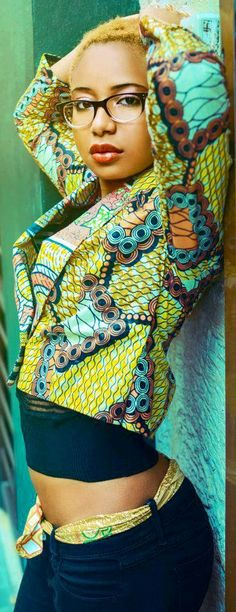 Made from cloth designed for the African market