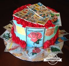 Mexican Loteria Cake by Sweet Doughmestics