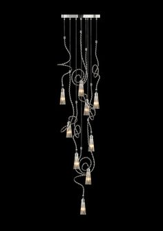 An image of Sultan of Swing elements composition , it showcases the possibilities of creating your own chandelier with our handmade lighting, Custom Lighting, Modern Lighting, Office Lighting, Chandelier Pendant Lights, Modern Chandelier, Sultans Of Swing, Light Project, Interior Lighting, Modern Luxury