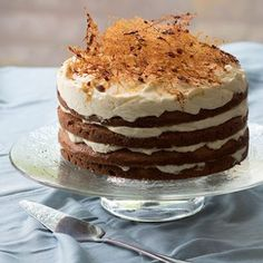 Produce a spectacular multi-layered cake. Give it the 'wow' factor with spun sugar, or simply decorate with rose petals. Fruit Recipes, Baking Recipes, Cake Recipes, Dessert Recipes, Baking Ideas, Rusk Recipe, Cheesecake Mix, Lemon Mousse, Vanilla Cake Mixes