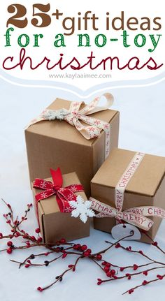 25+ Non-toy christmas gift ideas #holiday #christmas #gifts I like the book-a-month idea...or the fake version when you mail books yourself ;-)